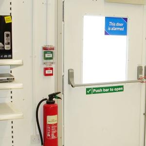 D clencheur manuel pour issue de secours vert double Porte de secours