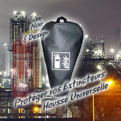 Housse design pour extincteur housse extincteur noir for Housse extincteur