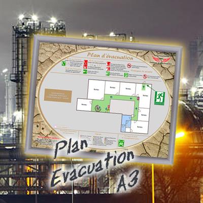 Plan d 39 vacuation avec cadre format a3 haut de gamme for Concepteurs de plans haut de gamme