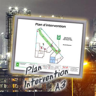 Plan intervention avec cadre format a3 1er prix - Cadre format a3 ...