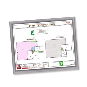 Plan intervention avec cadre format a3 standard plan - Cadre format a3 ...