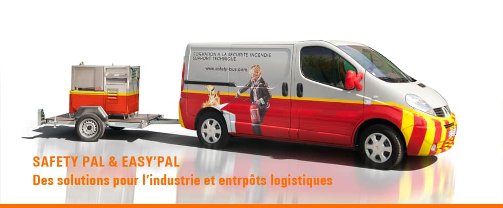 Formation incendie industrie - CAMION FORMATION INCENDIE SAFET'EASY