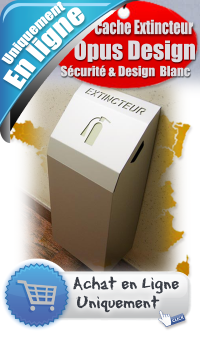Coffret Cache extincteur design OPUS - Version murale