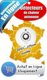 Détecteur avertisseur autonome de chaleur (DDAC) - Prix 42 € ht - Lithium