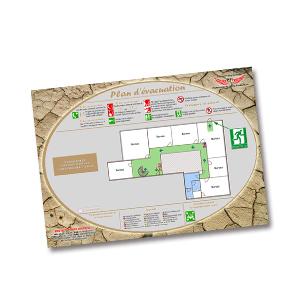 Plan d 39 vacuation sans cadre format a4 haut de gamme for Concepteurs de plans haut de gamme