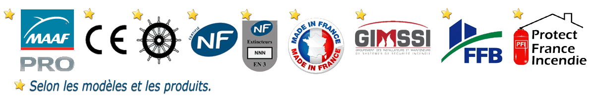 Logo Protect France Incendie & Sécurishop certification