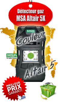 Détecteur multigaz portable ALTAIR 5X IR [LIE (Pen), O2, CO, H2S, 0-10 % CO2] - MSA Gallet 10119615 Couleur